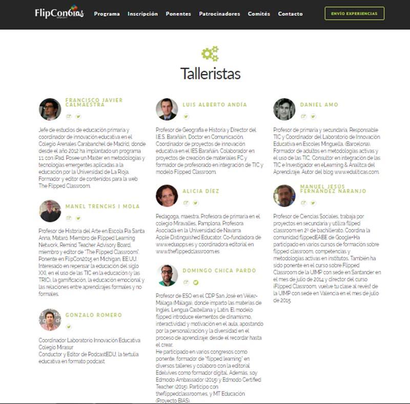 Talleres 2017 flipped classroom